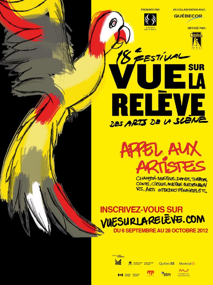 18e festival Vue sur la relève des arts de la scène : Appel aux artistes