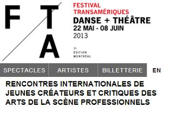 Festival TransAmériques – Appel de candidatures – Rencontres internationales de jeunes créateurs et critiques des arts de la scène