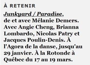 Critique Junkyard/Paradis – Danse – Ô le beau désordre!