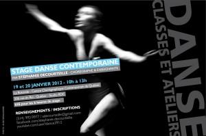 Stage avec Stéphanie Decourteille – 19 et 20 janvier à 10 H