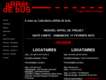 Appel de projets – Café-bistro Arrêt de bus