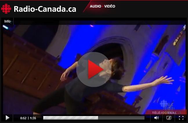 In Paradisum à l'International des musiques sacrées de Québec par Valérie Cloutier, Radio-Canada
