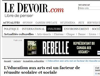 L'éducation aux arts est un facteur de réussite scolaire et sociale