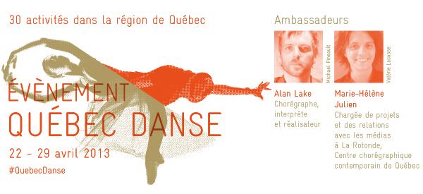 Évènement Québec Danse –  c'est parti!
