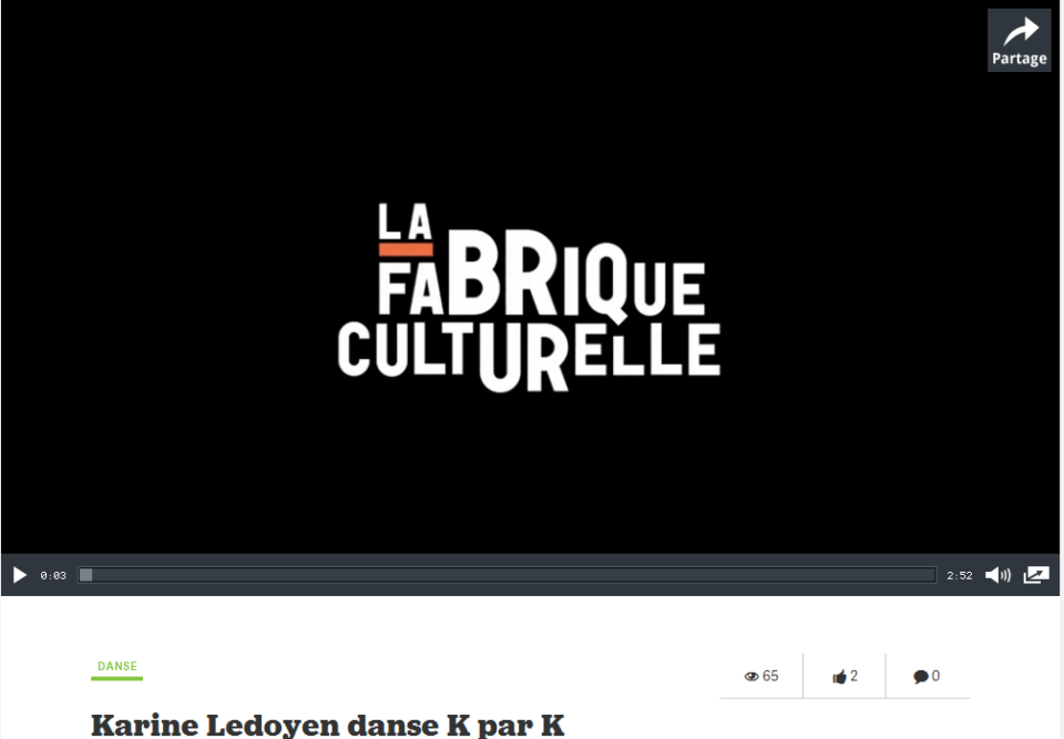 La Fabrique culturelle : Karine Ledoyen, Danse K par K