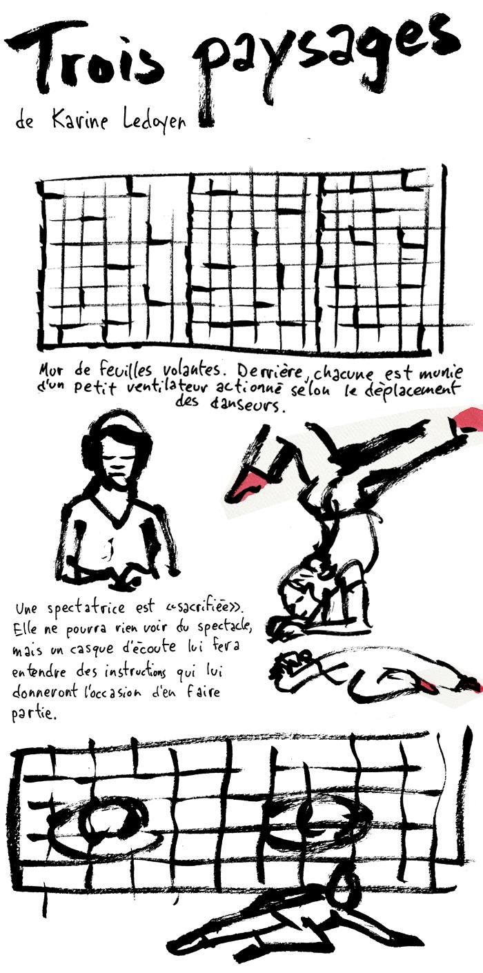 Trois Paysages   Dessiné par Francis Desharnais