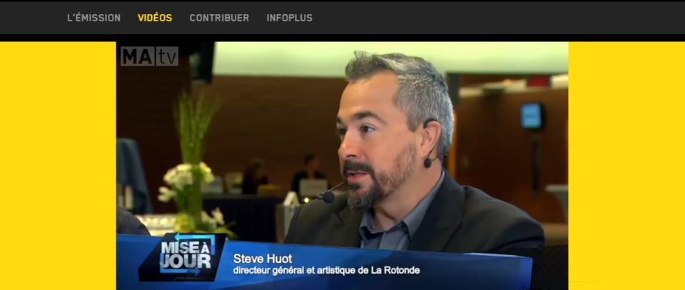 Steve Huot dans l'émission «Mise à Jour» via MATV – Vision Culture 2025