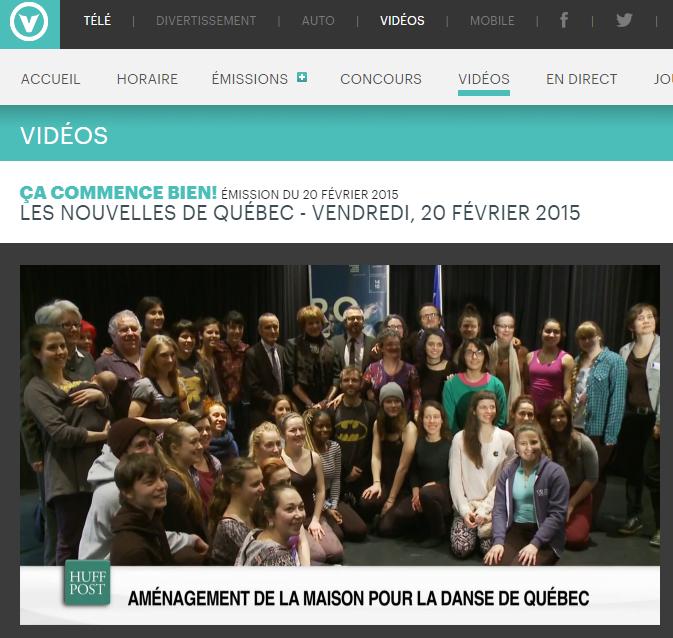 La Maison pour la danse de Québec : ça commence bien!