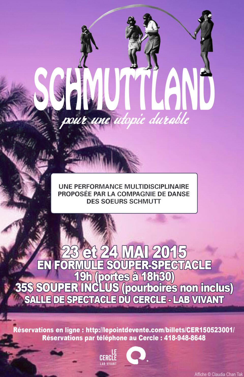 Schmuttland, pour une utopie durable! 23 et 24 mai à 19 h au Cercle