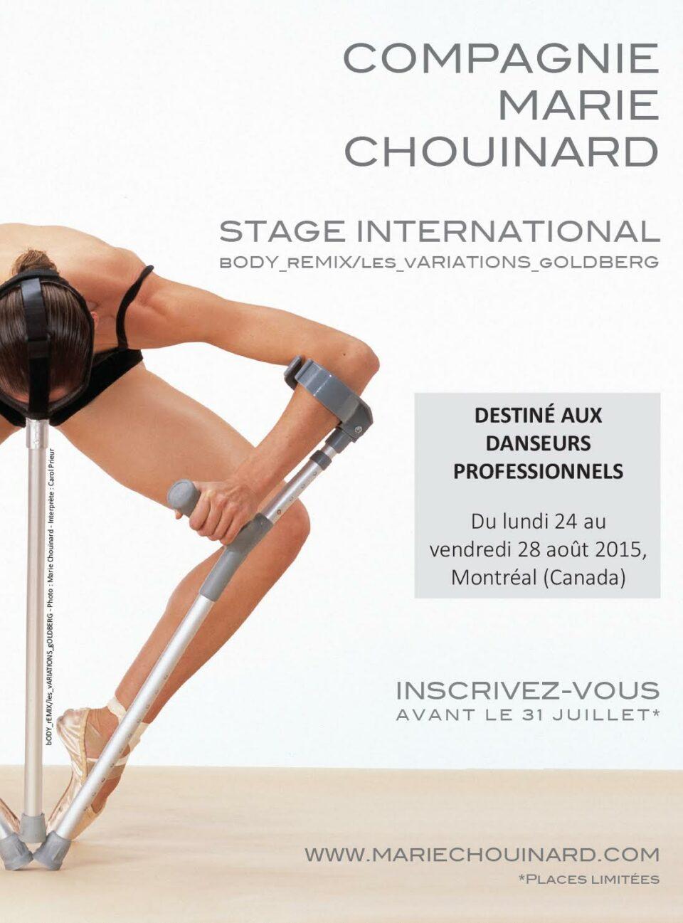 Stage international de la Compagnie Marie Chouinard
