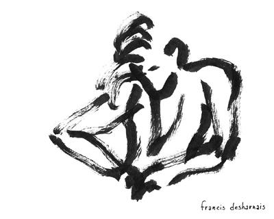 Les croquis de danse de Francis Desharnais par Raymond Poirier