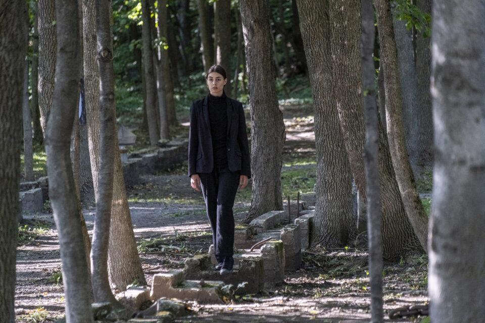 Myriam Arseneault dans La Forêt Mixte - Le Carré des Lombes / Crédit photo : Luc Senécal